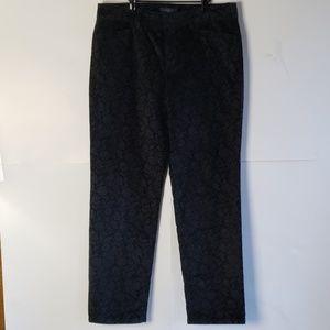 Talbots Signature Black Velvet Pants